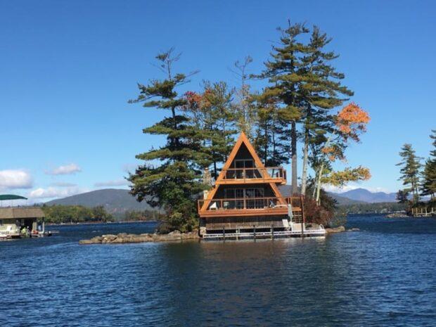 AFrame on Private Island